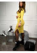 8d7e3764eb5e Dlhé úpletové šaty s opaskom CLAIRE