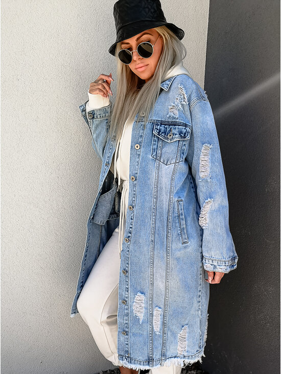 Long denim bunda ALISON